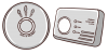 fire and CO alarm grey